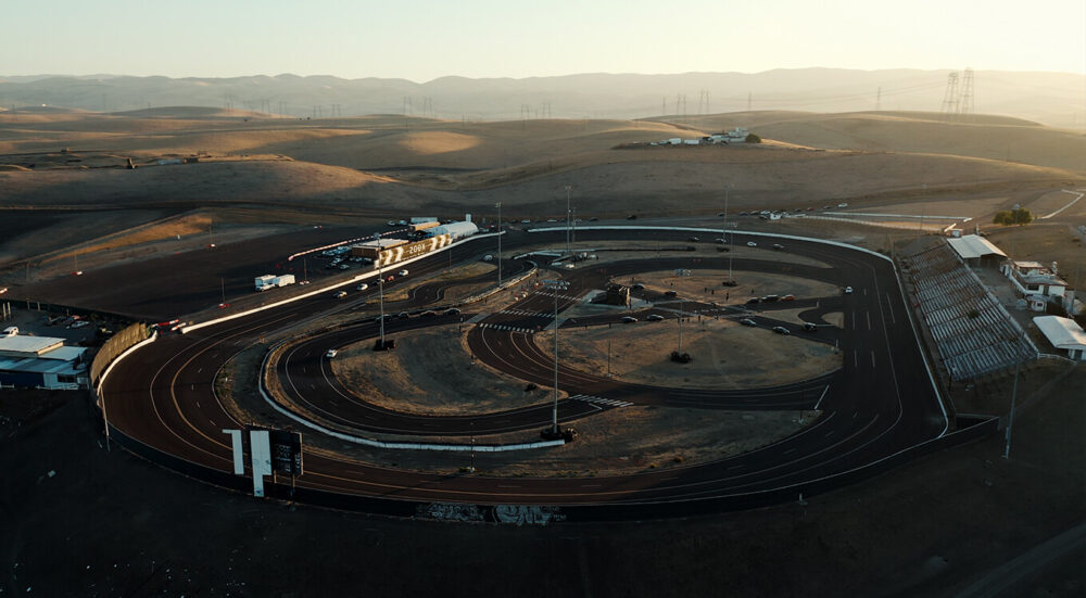A bird's-eye view of our private track.
